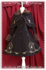 Infanta The Emperor's Nightingale Embroidery Lolita Winter Coat and Cape Set