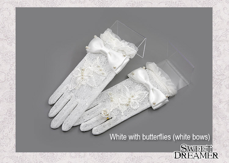 White with butterflies (white bows)