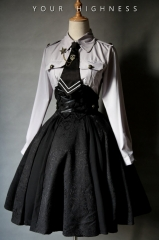 Your Highness -The Vow- Military Gothic Lolita Skirt