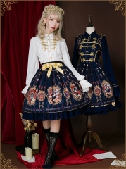 Uwowo -The Coronation of Brumaire- Military Lolita Skirt