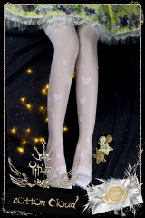 Yidhra -Afternoon Nap- Vintage Classic Lolita Thigh High Socks