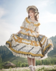 Classical Puppets -Romantic Field- Vintage Classic Lolita OP Dress