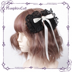 Pumpkin Cat -Sweet Toothache- 2020 Version Sweet Lolita Hairclip