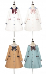 Cute.Q -The Little Sailor- Sailor Lolita LONG Sleeves OP Dress - Round 3 Preorder