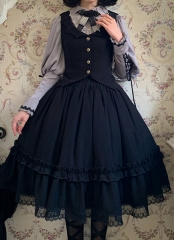 Gloomy Princess Gothic Lolita Blouse, Vest and Skirt