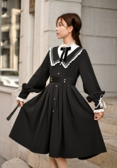 The Nameless Girl Vintage Classsic High Collar Lolita OP Dress