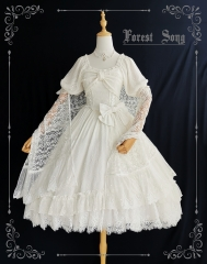 Forest Song -Love of Floria- Vintage Classic Lolita OP Dress (Lace Version)